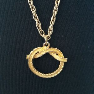"Avon 36"" Rope Chain with Golden Knot"